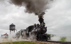 leaving the station (skram1v) Tags: train antique prairiedogcentral steam coal inkster grossisle weekly summer smoke