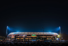 De Kuip / Stadion Feyenoord (koolbram) Tags: de kuip dekuip stadion feijenoord feyenoord voetbal football soccer stadium lights dark night cars lighttrail hdr nikon d90 rotterdam rotterdamzuid maas maasgebouw benelux europa europe madeinholland holland dutch zuidholland culture erfgoed gers