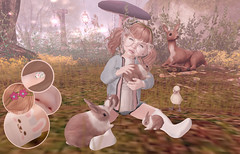 Surrounded by Bunnies (Second Style) Tags: easter secondlife fashion spring bunnies bunny animals nails avatar virtual kids children