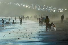 The Water Bearer (blueteeth) Tags: beach ocean shore people malibu california pacificcoasthighway beachtraffic