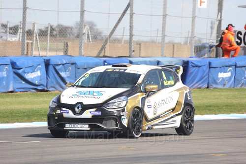 Jack McCarthy in Clio Cup qualifying during the BTCC Weekend at Donington Park 2017: Saturday, 15th April