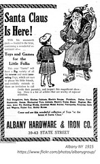 santa Claus  Albany Hardware and Iron  State st.  1915  albany ny (albany group archive) Tags: christmas early 1900s
