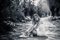 elise-1 (Michel Kort Fotografie) Tags: portrait girl fashion black white dress blond