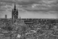 from above (frankvanroon) Tags: delft hdr city cityscapes bw blackandwhite blackwhite monochrome holland