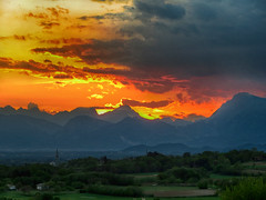 IMG_4015 sunset (pinktigger) Tags: sunset fagagna feagne friuli italy italia country mountains countryside hills clouds
