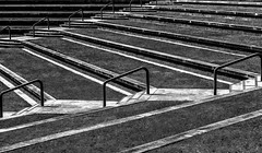 Sit By Me (TuthFaree) Tags: benchmonday hbm albany ga swga riverpark bench outdoor park bw