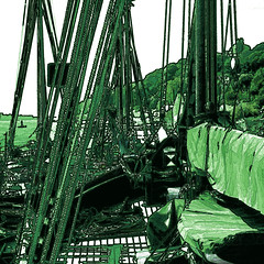 fishing port (j.p.yef) Tags: peterfey jpyef yef germany hamburg ships fishingport digitalart monochrome green