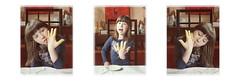 """Spaghetti Monster - Her Holy Noodliness Lotti tasting if the noodles are cooked well: """"3 minutes longer"""" Ihre heilige Nudeligkeit Spaghetti Monster -  Lottchen kostet vor: """"noch drei Minuten"""" RAmen (hedbavny) Tags: lotti easter ostern trinität karfreitag nudeln pasta pessach passah noodles ramen spaghettimonster finger hand gesicht face portrait porträt egg ei zeichnung drawing osterei afrika handwerk table tisch glas sessel chair anrichte holz wood painting picture gemälde red rot ebenholz blue blau black schwarz weis white tischtuch tischdecke teller plate pferd horse green grün maigrün maske fratze mask girl mädchen kid kind blume flower blüte blühen verblühen trockenblume vase keramik schale dekor vienna austria hedbavny"""