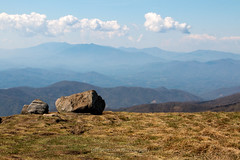 The Smokies from Roan Mountain 1 (jeffseverson) Tags: mountains travel clouds landscapes mountain hiking tn tennessee appalachianmountains smokymountains appalachiantrail thesmokies