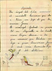 Seville Ephemera (Chris Draper) Tags: sevilla seville ephemera childsdrawing vintageephemera excercisebook