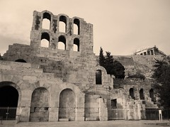 Herodion -Athens - Acropolis (spicros78) Tags: travel bw ancient europe center athens panasonic greece herodion