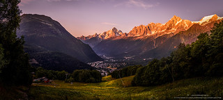 Coucher du soleil - Atardecer -Vallée de Chamonix