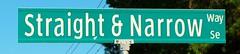 The Straight and Narrow Way (Gerry Dincher) Tags: bolivia northcarolina brunswickcounty smalltownnorthcarolina 911 straightandnarrowway ruralsouth privateroad streetsign midwayroad explore suburb gerrydincher