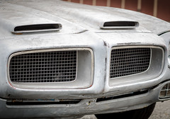 Aging Shark (channel locks) Tags: cars gray grill scoops bondo 85mmf18g nikond7000