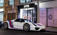 Martini Porsche 918 Spyder Weissach. (JayRao) Tags: paris france nikon october martini spyder porsche hybrid 2014 jayr 918 d610 weissach hypercar