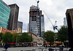 The Tower at PNC Plaza, Downtown Pittsburgh, October 2014 (evz922) Tags: plaza building tower glass skyline architecture skyscraper square office construction downtown pittsburgh market pennsylvania highrise development pnc