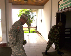 USARAF Commander attends briefings at Liberian Ministry of Defense (US Army Africa) Tags: italy vicenza mgwilliams monrovialiberia africom casermaederle usafricacommand usarmyafrica usaraf armyafrica operationunitedassistance majgendarrylawilliams ebolaoutbreak