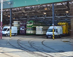 Rigby Road Depot (PD3.) Tags: road bus heritage beach buses car square pier south north transport balloon central twin tram lancashire depot 700 717 trams blackpool 147 pleasure rd talbot fleetwood t2 psv pcv rigby flyde