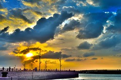 DSC_1009 (Jun-Mao Chang) Tags: sunset cloud port nikon taiwan    hdr d800