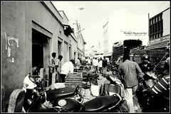Business Hour (Robin Mazumdar) Tags: blackandwhite bw market sony bangalore business busy marketplace a58 russellmarket sonyslt sonya58