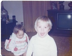 me and my sister. late 1970's (timp37) Tags: film me illinois sister late 1970s
