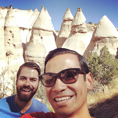 "I say ""upside-down ice cream cones"", Luis says ""fat guys with pointy hats"", we both say ""funny penises"" #GeologyYouAwesome #NewMexico"