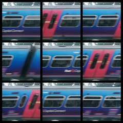 Motion (nican45) Tags: blue red motion colour collage mobile train project photography phone picasa railway mobilephone theme topic htc yps yorkphotographicsociety onem8