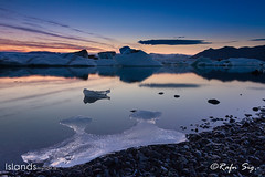 Twilight at Glacier Lagoon