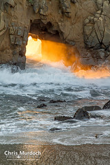 Through the Gap (Chris Murdoch Photography) Tags: california sunset sea usa nature water waves fineart bigsur sunsets places things titles californiacoast fineartphotography chrismurdoch throughthegap californialandscapephotography chrismurdochphotography copyrightchrismurdoch