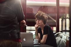 DSC_0645b (OliviaZinsou) Tags: blue light mannequin girl beauty computer hair model eyes mac air short coffe
