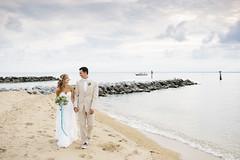 Bauer Wedding [07.19.14] (Andrew H Wagner | AHWagner Photo) Tags: wedding portrait people beach water 35mm canon person eos groom bride bay sand couple dof bokeh f14 maryland weddingday chesapeake weddingphotography 35l f14l 5dmkiii 5dmk3 5d3 5dmarkiii 5dmark3