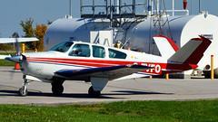 Beech S35 Bonanza 1964 C-FVFO - Brampton Airport, Caledon, Ontario (edk7) Tags: ontario canada plane private airplane aircraft beech 1964 bonanza 2014 caledon d3200 cnc3 s35 bramptonflyingclub bramptonairport bramptonflightcentre sigma150mm128apomacrodghsm edk7 snd7442 cfvfo continentalio520bsixcylinderhorizontallyopposedengine285hp
