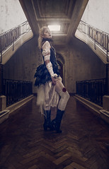 Lady of the Manor (Clinton lofthouse Photography) Tags: portrait rose photoshop model cosplay victorian corridor commercial elegant conceptual retouching darkbeauty darkfairytale costumephotography