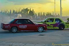 PERFECT rivals... (Love me tender .**..*) Tags: sunset colors race greek photography driving greece drift attica 2014 oaka dimitra maroussi nikond3100 kirgiannaki