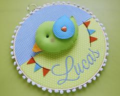 Enfeites do Lucas (Meia Tigela flickr) Tags: baby bird handmade artesanato artesanal craft passarinho pássaro quadro felt bebê quarto manual feltro decoração maternidade enfeite bastidor feitoamão