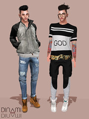 GOD (Levi Megadon // *OMG*) Tags: male men boyfriend sunglasses hair pumpkin boot clothing big cool hands pants boots zoom coat ripped hipster shades sneakers sl jeans event mina jacket secondlife mens shorts hip dope tee swag facial loose leggings credo baggy fasion thermals tats tmd aeros cuffed timbs flite nikotin slink spiritstore chronokit themensdept valekoer beusame mandalaears