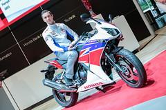 Michael van der Mark (Supersport World Champion) bei der Präsentation der Produktneuheit Honda CBR300R.