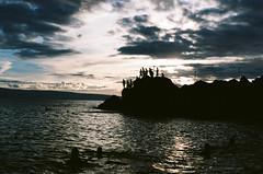 Sunset at Black Rock (A J Combo) Tags: maui pentaxmesuper blackrock kodakektar100