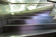 Gleaming Brightly (Jocey K) Tags: madrid colour building reflections spain steps rail caixaforum archtiecture industrialarchitecture caixaforummuseummadrid
