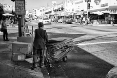 All About the Boxes (byroN Jos sun) Tags: poverty california blackandwhite blanco de la calle los angeles negro vida pobreza