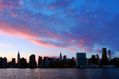 Sunset over the East River (erice_dunn) Tags: nyc sunset brooklyn manhattan midtown unitednations eastriver empirestatebuilding chryslerbuilding
