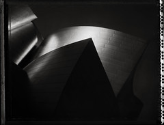 Shapes (RafaelGonzalez.) Tags: california blackandwhite film architecture polaroid losangeles downtown shapes 4x5 type55 largeformat graflex speedgraphic