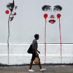 Oblivious (donbyatt) Tags: urban wall wallart lane area redevelopment londonshoreditchbrick graffiticandidpeopleeast
