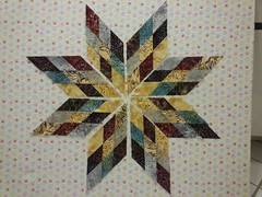 Scrappy Lone Star with  betteroffthread.com tutorial
