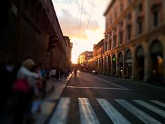 A time in the city (massimo.forapani) Tags: street italy strada italia tramonto samsung via bologna ugo s2 bassi