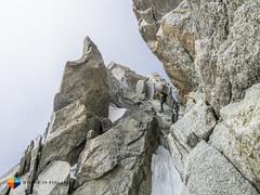 2nd Rappel (HendrikMorkel) Tags: mountains alps mountaineering chamonix alpineclimbing arêtedescosmiques arcteryxalpineacademy2015