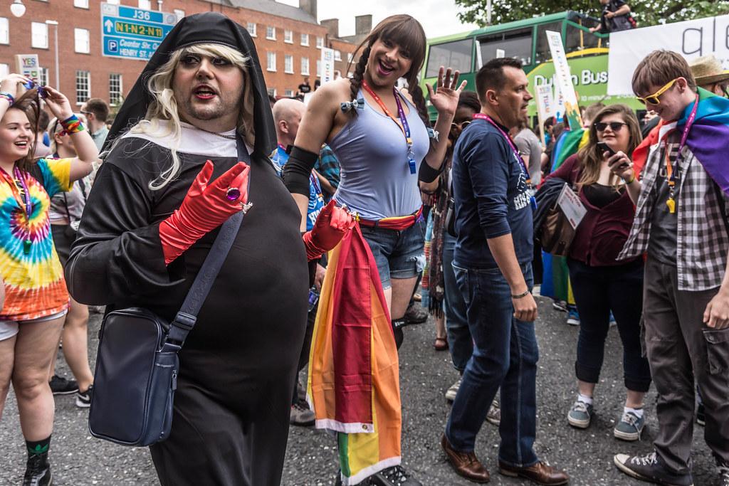 DUBLIN 2015 GAY PRIDE FESTIVAL [BEFORE THE ACTUAL PARADE] REF-106242