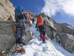 Snow & Rock (HendrikMorkel) Tags: mountains alps mountaineering chamonix alpineclimbing artedescosmiques arcteryxalpineacademy2015
