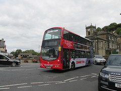 37292, Holmfirth, 09/09/16 (aecregent) Tags: holmfirth 090916 first firstwestyorkshire holmevalleyconnection firstholmevalleyconnection volvo b9tl wright eclipsegemini 37292 mx07btu