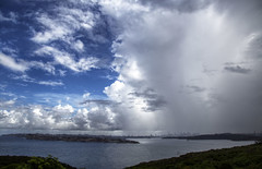 Rain clouds over Sydney (LSydney) Tags: cloud rain sydney sydneyharbour northhead